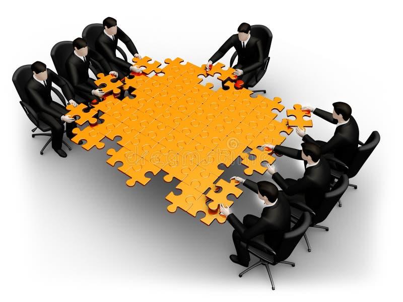 Recherche de Businessmans de solution illustration de vecteur
