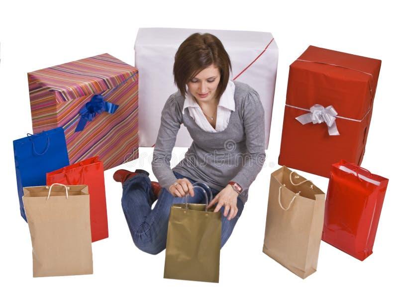 recherche de cadeaux photographie stock