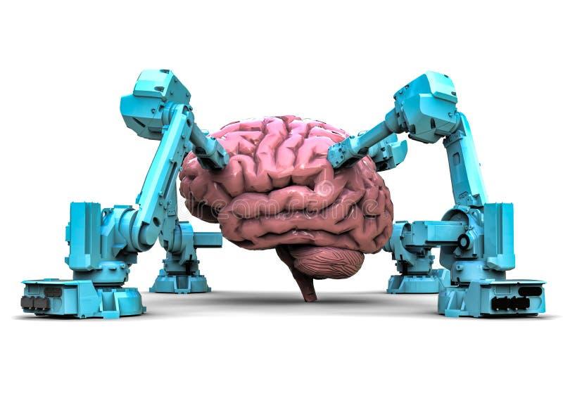 Recherche de cerveau humain illustration stock