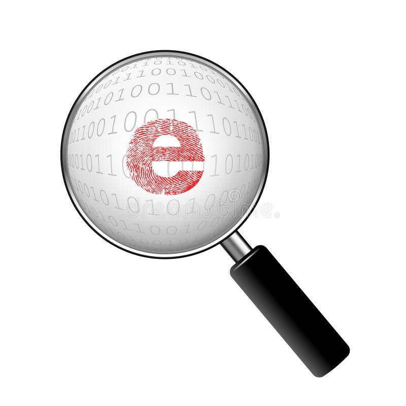 Recherche de crime d'Internet illustration de vecteur