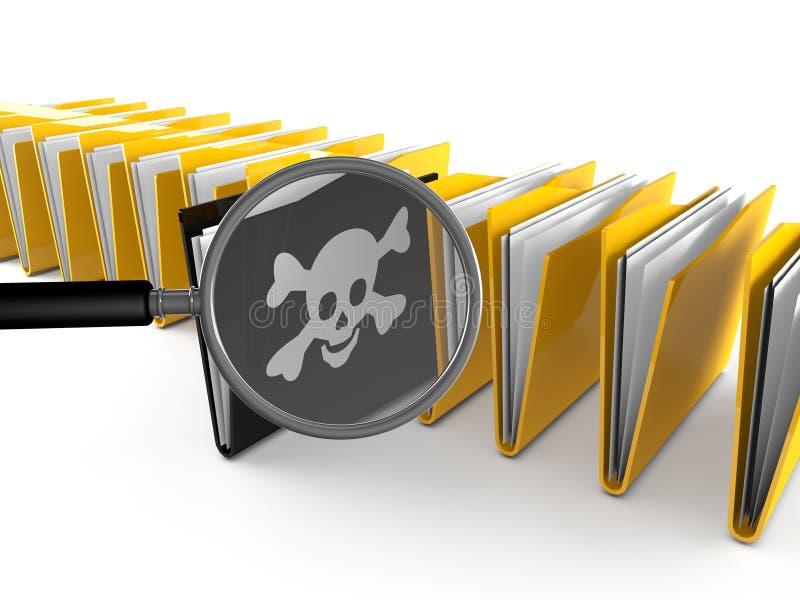 recherche de dossier du virus 3d illustration libre de droits