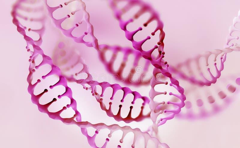 Recherche de g?nome d'ADN Structure de mol?cule d'ADN illustration libre de droits