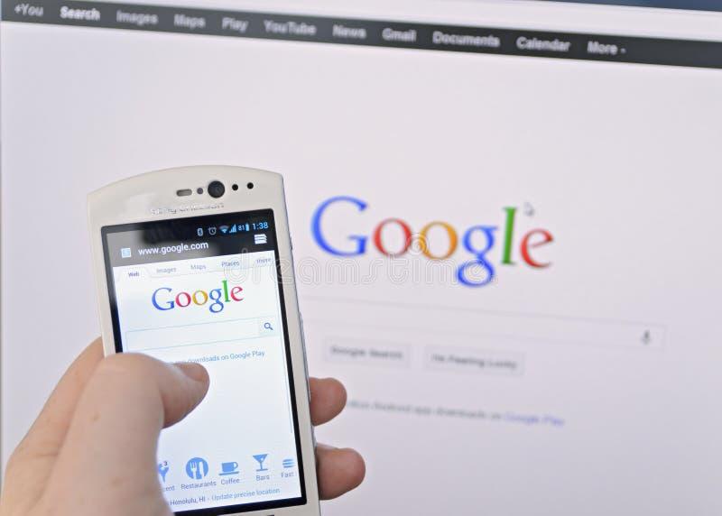 Recherche de Google photographie stock