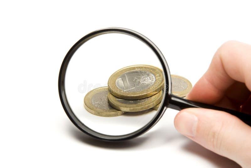 Recherche de l'argent photo libre de droits