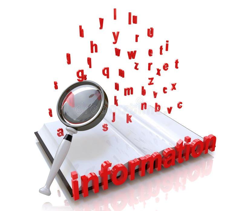 Recherche de l'information illustration libre de droits