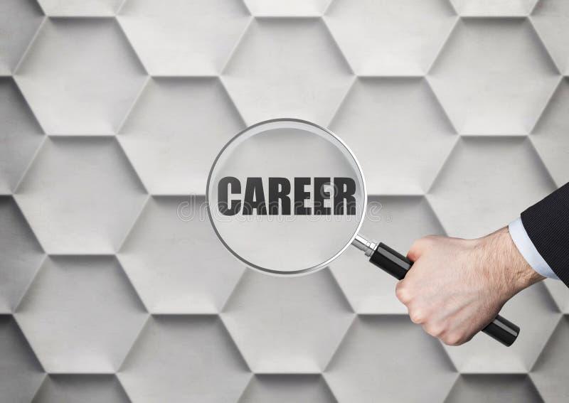 Recherche de la carrière image stock