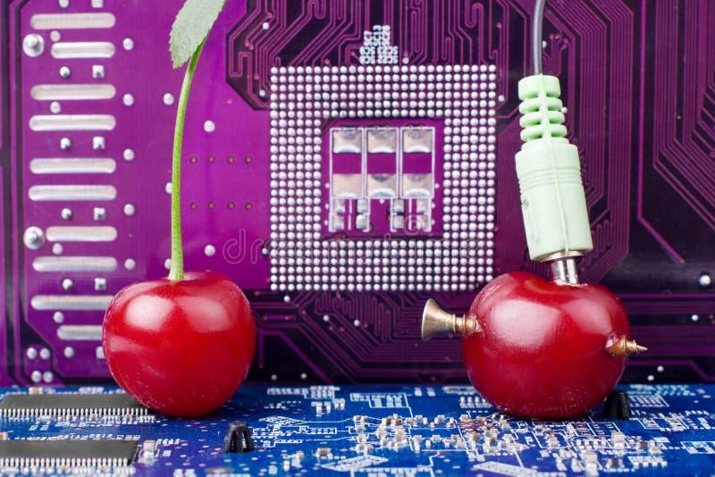 Recherche de la Science sur le concept de la génétique de nourriture photo stock