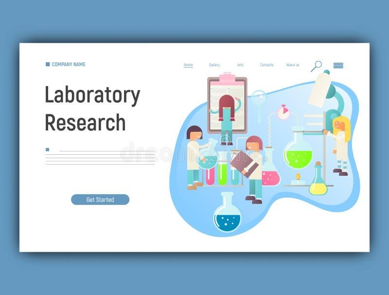 Recherche de laboratoire illustration libre de droits