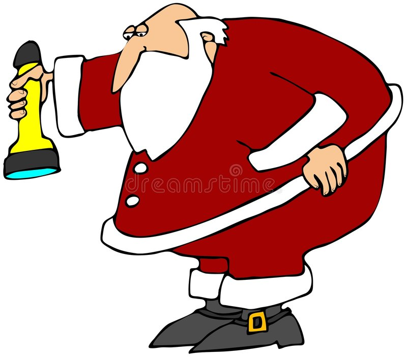 Recherche de Santa illustration stock