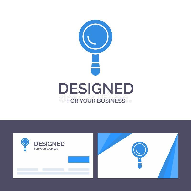 Recherche de visite de calibre créatif de carte de visite professionnelle et de logo, construction, illustration de vecteur de bâ illustration libre de droits