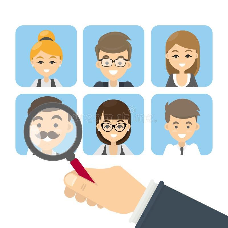 Recherche des candidats illustration stock