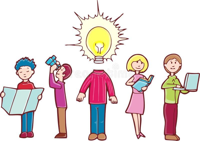 Recherche des idées illustration libre de droits