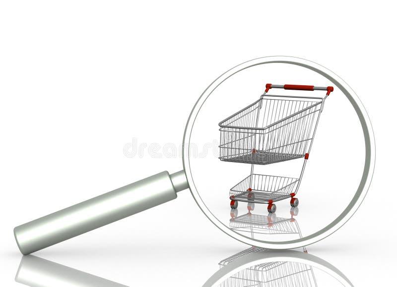 Recherche des Verkaufs lizenzfreie abbildung