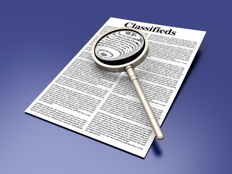 Recherche du Classifieds illustration libre de droits