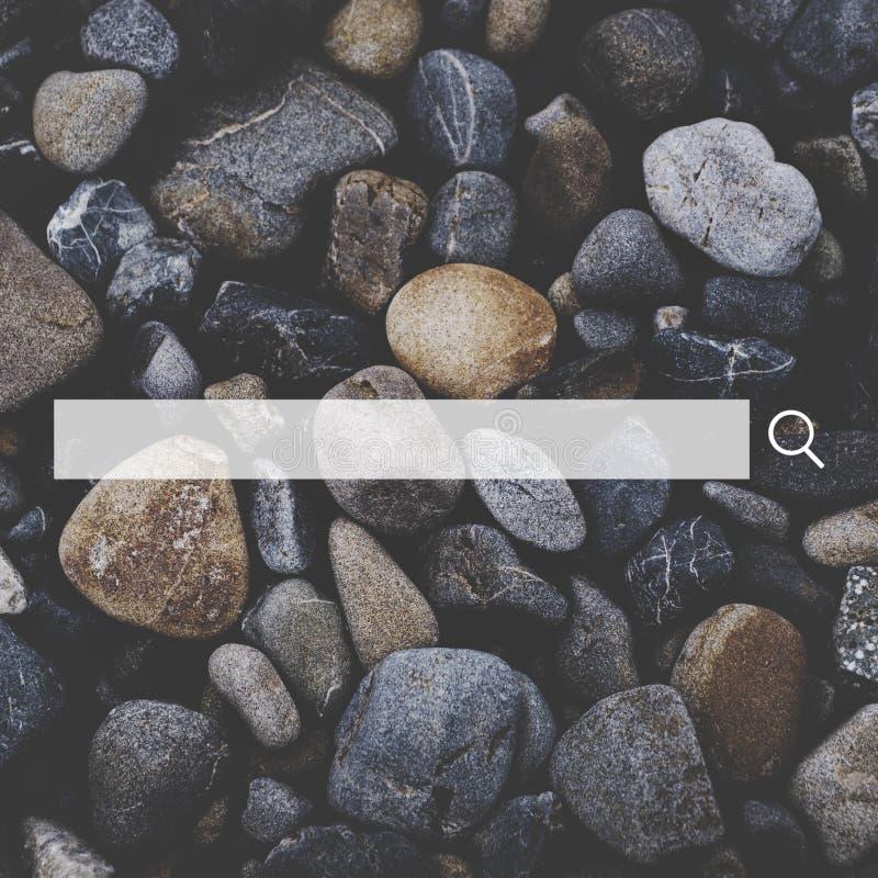 Recherche du concept en ligne de boîte de recherche d'interface d'Internet image libre de droits