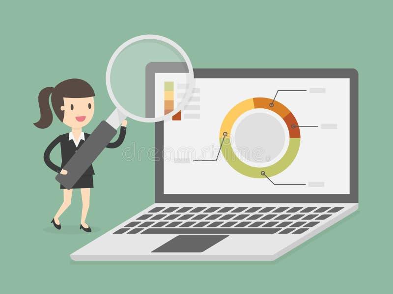 Recherche et analytics illustration stock