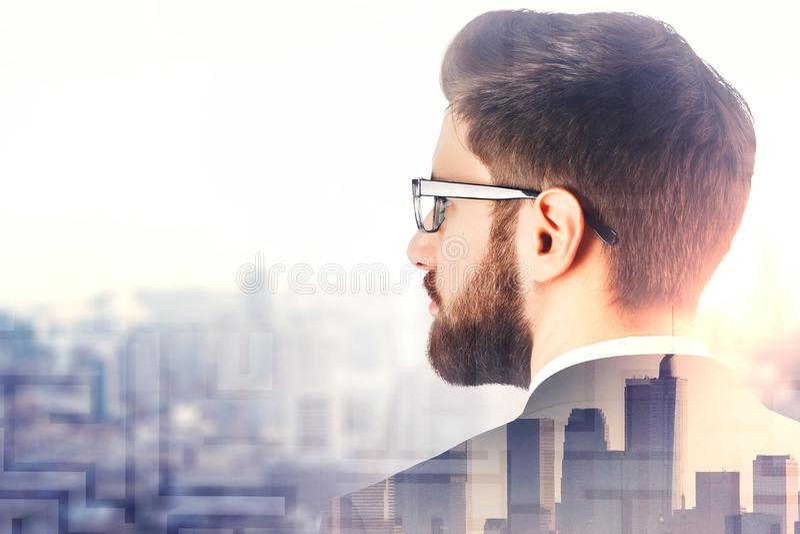 Recherche et concept d'emploi image stock