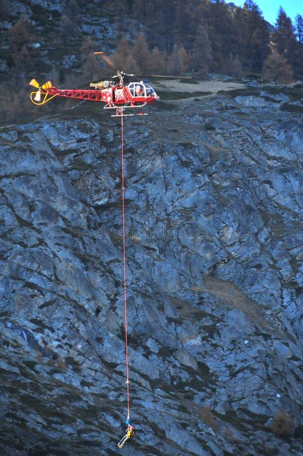 Recherche et sauvetage d'hélicoptère image stock