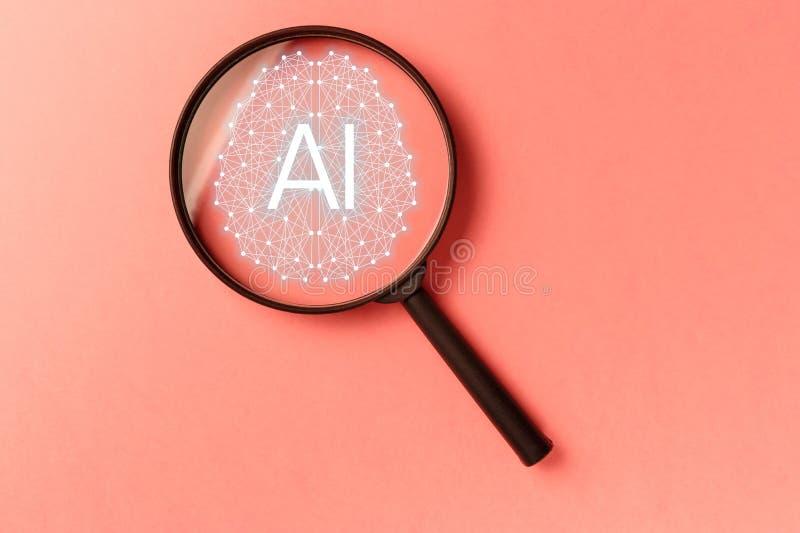 Recherche fut?e de concept Recherche des donn?es de l'information sur le concept de mise en r?seau d'Internet image stock