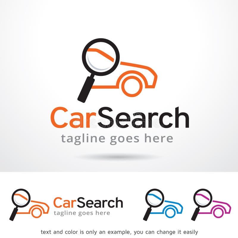 Recherche Logo Template Design Vector de voiture illustration stock
