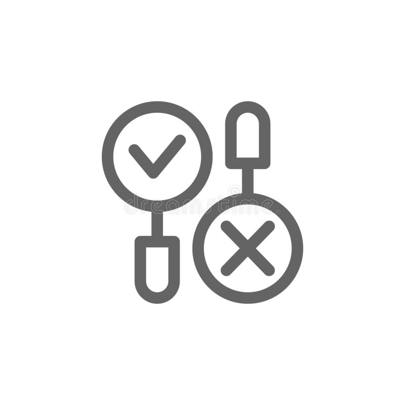 Recherche n'ajouter aucune icône Élément d'icône simple illustration libre de droits