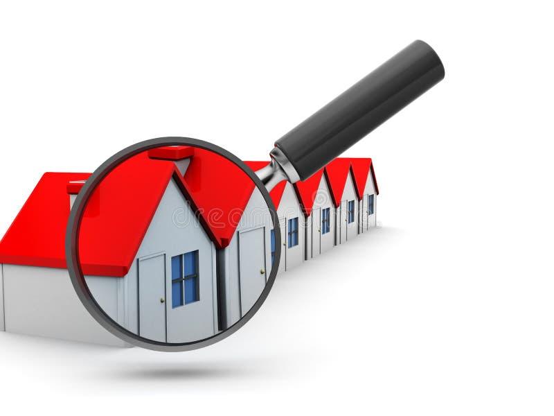 Recherche nach Haus stock abbildung
