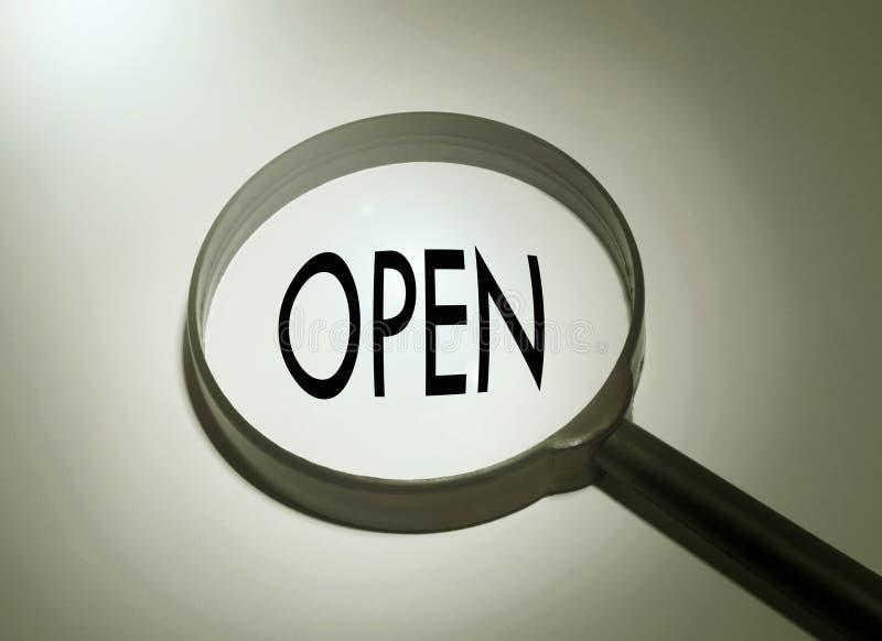 Recherche ouverte photo stock