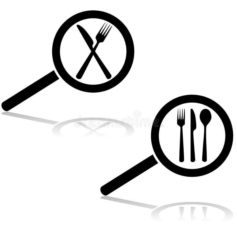 Recherche un restaurant illustration stock