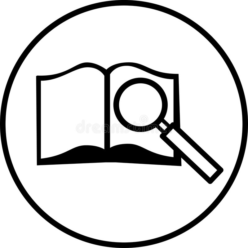 Recherchesymbol vektor abbildung