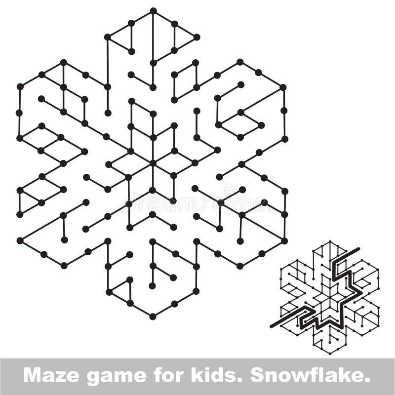 Recherchez la manière Jeu de labyrinthe d'enfant à colorer illustration libre de droits