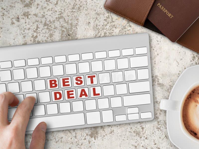 Recherchez la meilleure affaire de l'hôtel et des billets image stock