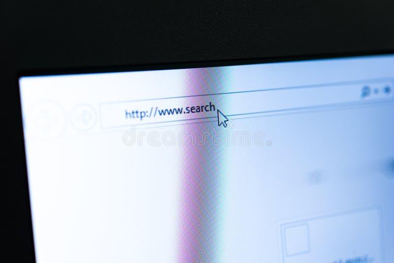 Recherchez le Web photographie stock
