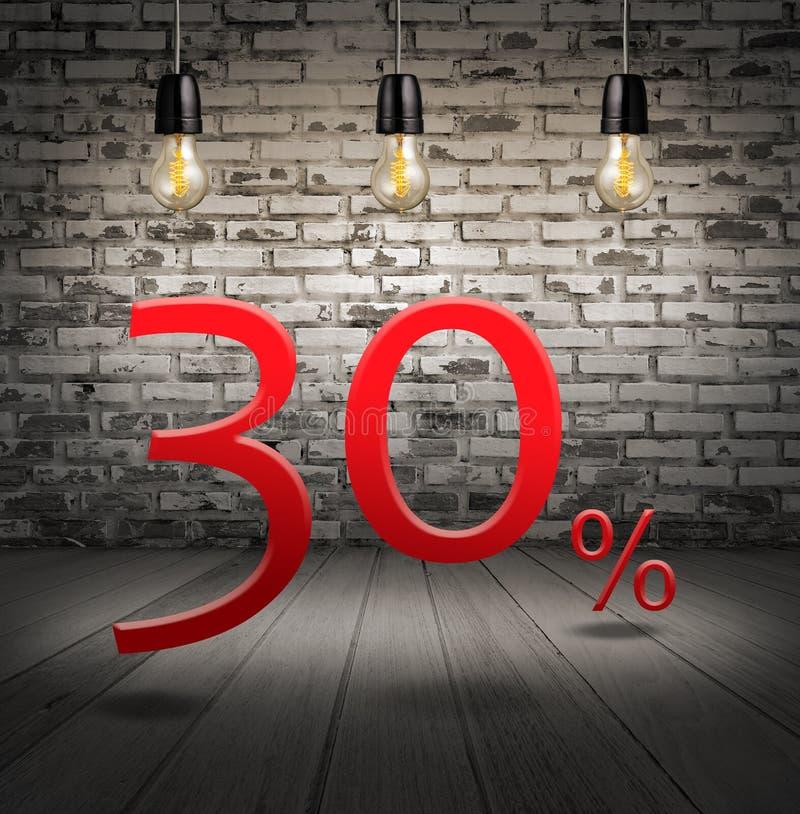 rechnen Sie 30 Prozent heruntergesetzt mit Sonderangebot des Textes Ihren Rabatt herein ab lizenzfreie abbildung