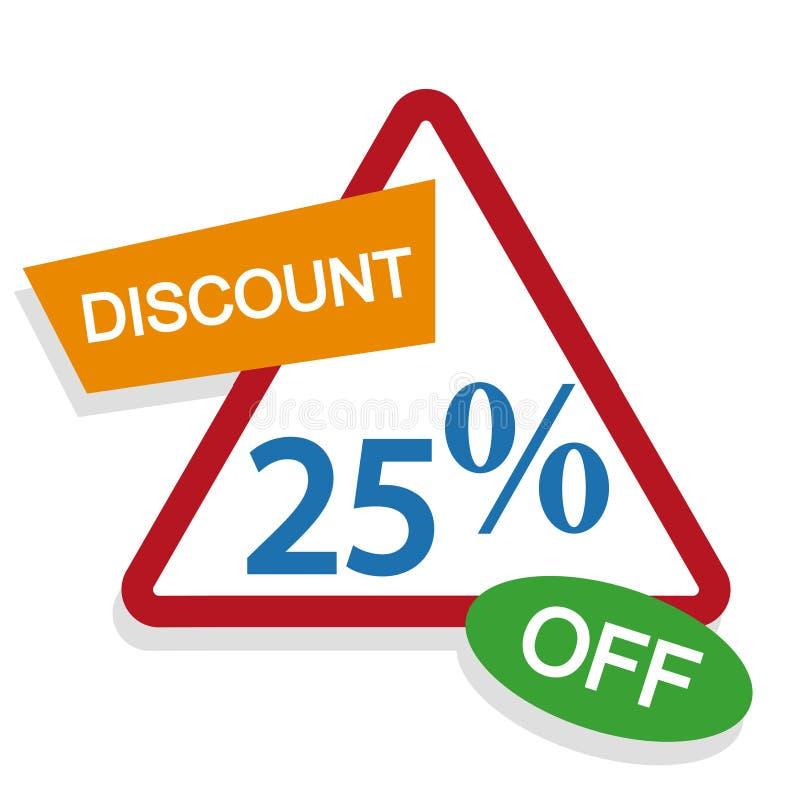 Rechnen Sie Prozentzeichen, Verkaufsaufkleber, Skontoprozentsatz, Preiszeichenikone, Prozent etikettieren, Rabattlogo, Verkaufsfa lizenzfreie abbildung