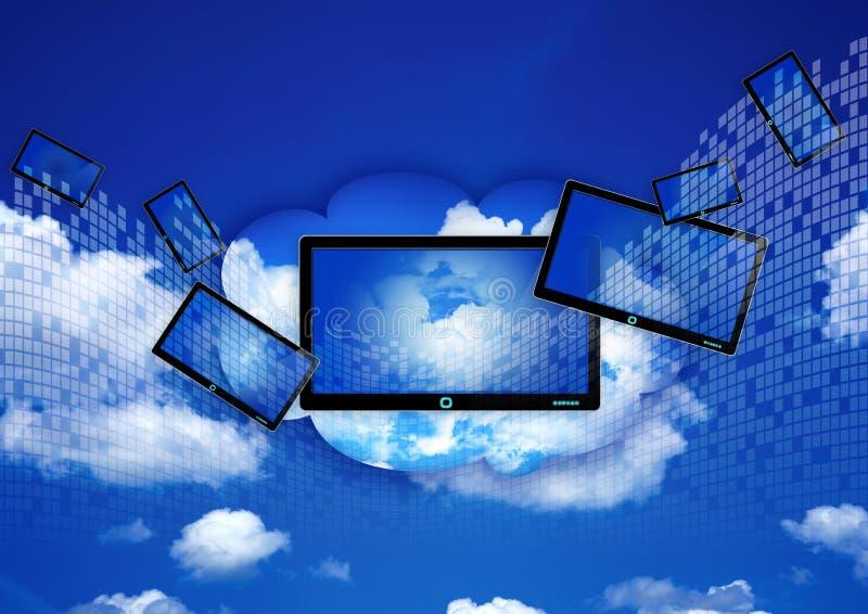 Rechnenkonzept der Wolke lizenzfreie abbildung