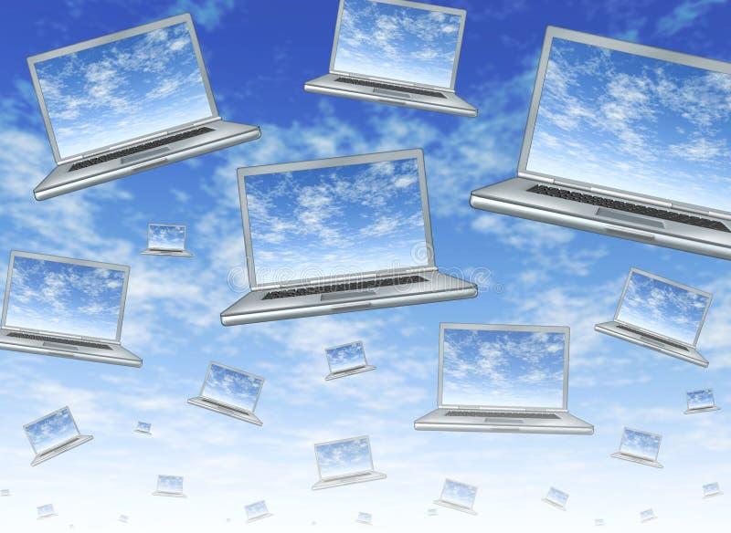Rechnenkonzept der Wolke stock abbildung