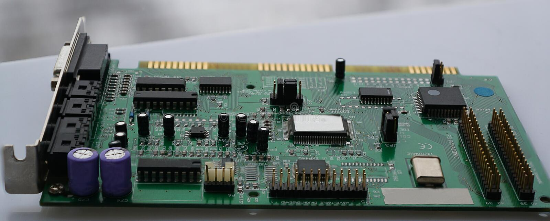 Rechnerschaltungs-Mutterbrettchip, Abschluss oben lizenzfreie stockfotografie