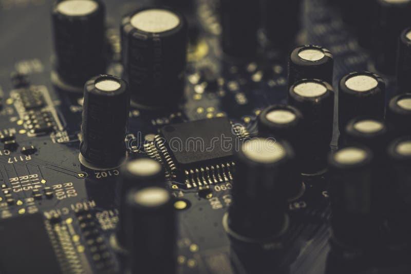 Rechnerschaltungsbrett mit Mikroprozessor lizenzfreies stockbild