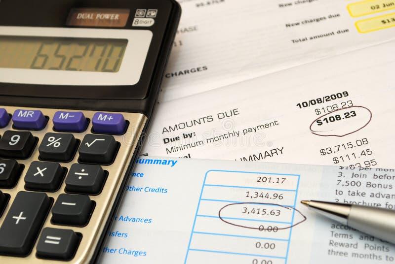 Rechnungen lizenzfreie stockfotografie