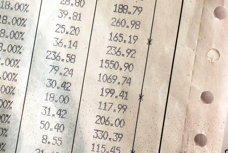 Rechnungsdetails stockbild