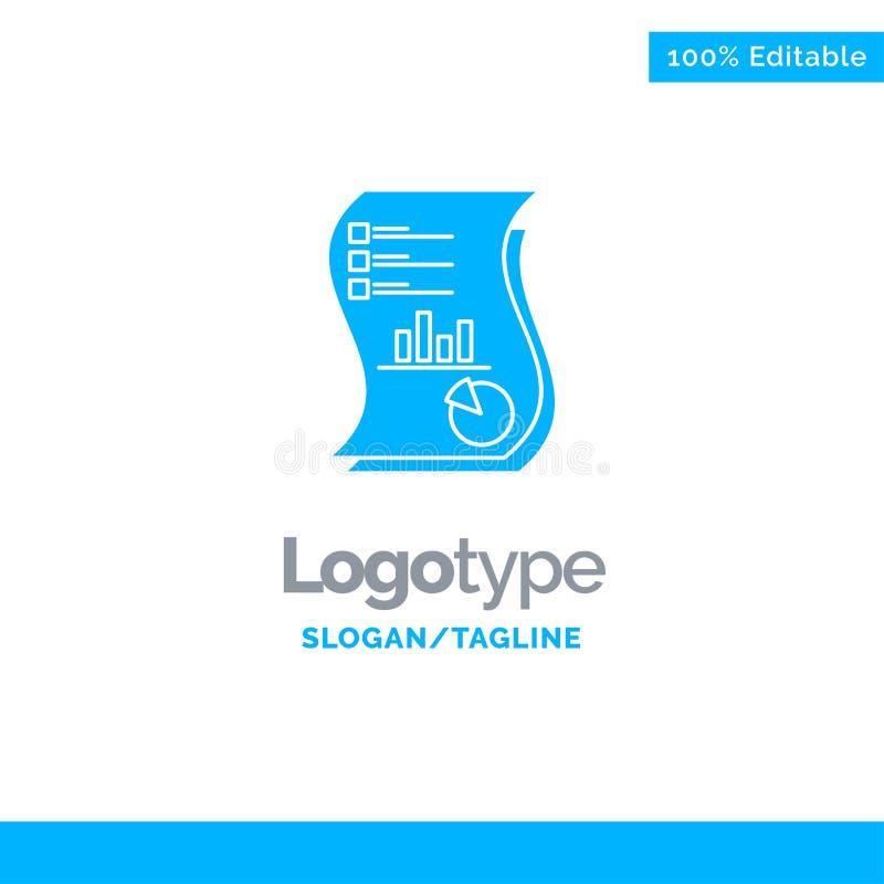 Rechnungsprüfung, Analytics, Geschäft, Daten, Marketing, Papier, Bericht blauer fester Logo Template Platz f?r Tagline vektor abbildung