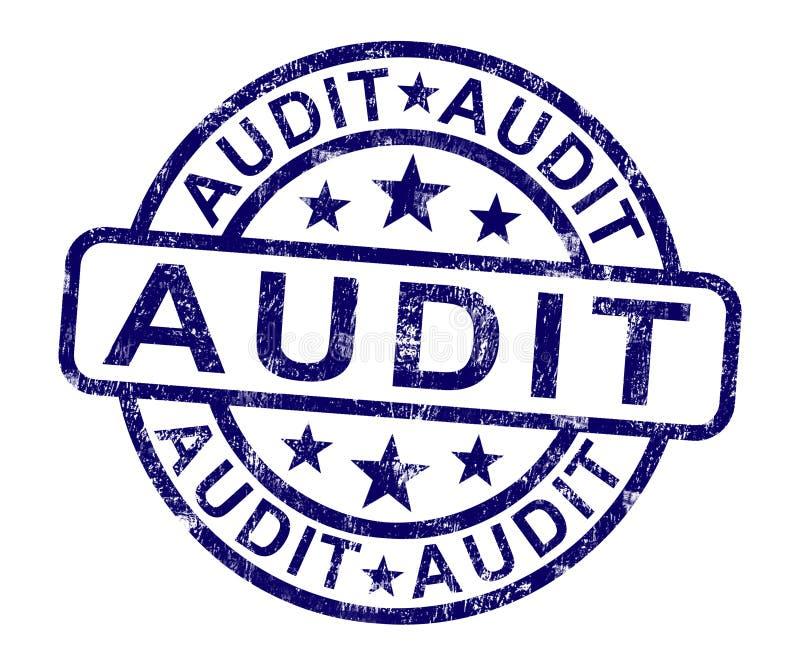 Rechnungsprüfungs-Stempel zeigt Finanzbuchhaltungs-Prüfung lizenzfreie abbildung