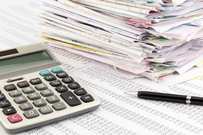 Rechnungszusammenfassung lizenzfreie stockfotografie