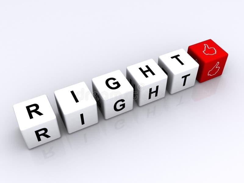 Recht   lizenzfreie abbildung
