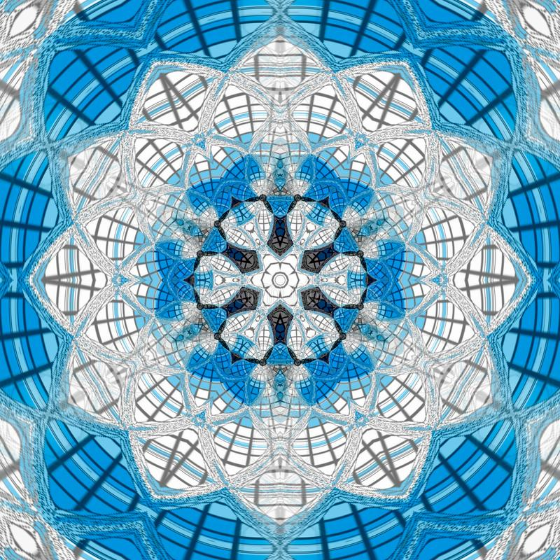 Recht blaue Blumenquermandala vektor abbildung