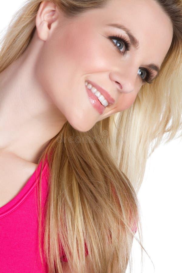 Recht blonde Frau lizenzfreies stockbild