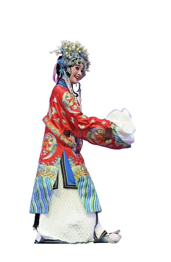 Recht chinesischer traditioneller Operenschauspielerin stockbild