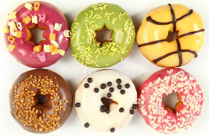 Recht donuts royalty-vrije stock afbeeldingen