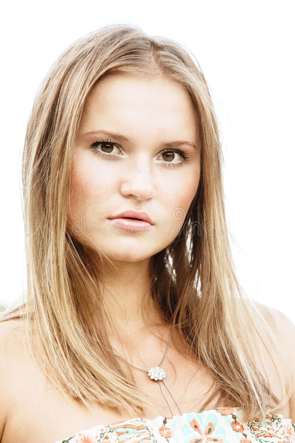 Recht fair-haired Mädchen lizenzfreies stockbild