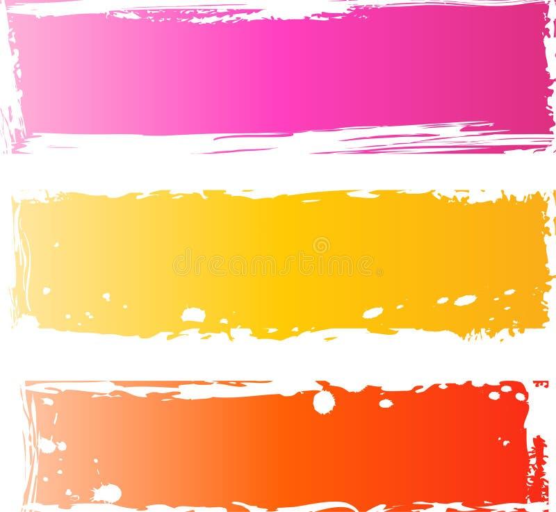 Recht grungy Fahnen mehrfarbig vektor abbildung